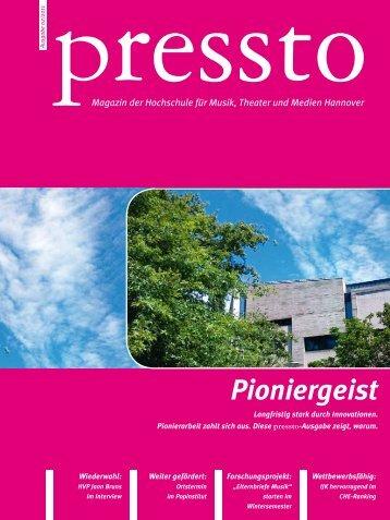 Pioniergeist - Hochschule für Musik, Theater und Medien Hannover
