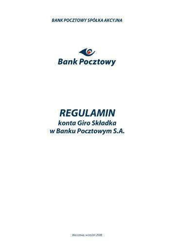 konta $iro Składka w Banku Pocztowym SA RE ... - Bank Pocztowy