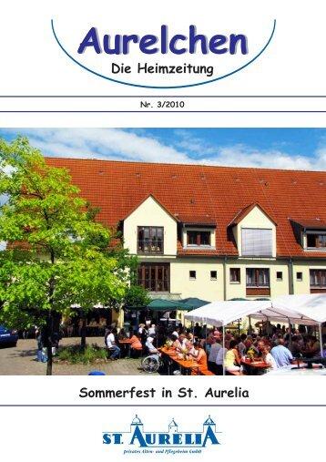 Aurelchen - Heimzeitschrift des privaten Alten- und Pflegeheims St ...