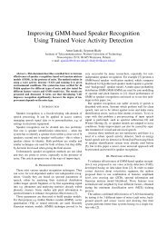 Improving GMM-based Speaker Recognition Using Trained Voice ...