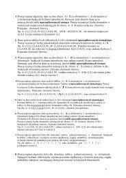 1 1.Proszę napisać algorytm: dane są dwa zbiory A i B ( n ...