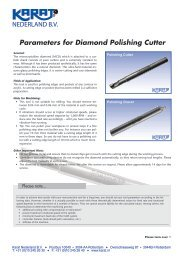 Parameters for Diamond Polishing Cutter - Karat