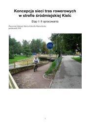 0 Koncepcja sieci tras rowerowych w strefie srodmiejskiej Kielc