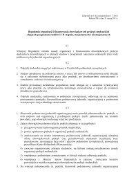 Regulamin organizacji i finansowania obowiązkowych ... - BIP PW