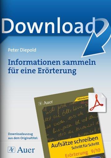 Informationen sammeln für eine Erörterung