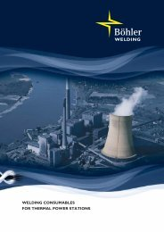 WELDING Consumables for thermal power stations