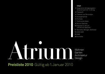 Preisliste 2010 Gültig ab 1. Januar 2010