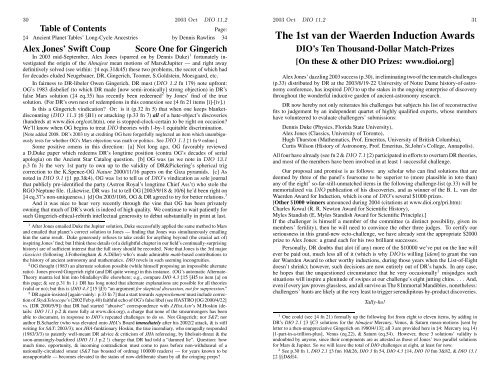 DIO 11.2 - DIO, The International Journal of Scientific History