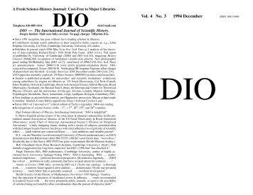 Vol. 4 No. 3 1994 December - DIO, The International Journal of ...