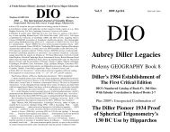 Aubrey Diller Legacies - DIO, The International Journal of Scientific ...