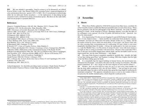 DIO vol. 2, # 1 - DIO, The International Journal of Scientific History