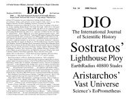 DIO vol. 14 - DIO, The International Journal of Scientific History