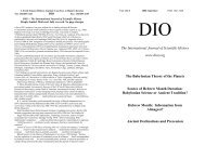 DIO vol. 13, # 2-3 - DIO, The International Journal of Scientific History