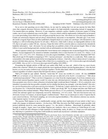 letter - DIO, The International Journal of Scientific History