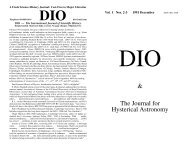 DIO vol. 1, # 2-3 - DIO, The International Journal of Scientific History