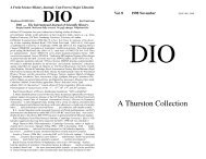 A Thurston Collection - DIO, The International Journal of Scientific ...