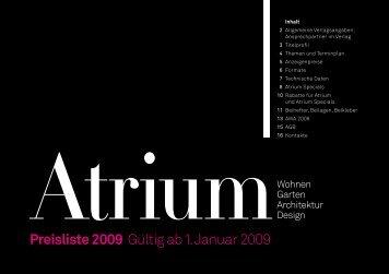 Preisliste 2009 Gültig ab 1. Januar 2009