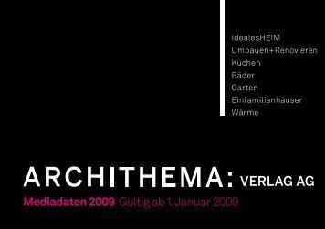 Mediadaten 2009 Gültig ab 1. Januar 2009