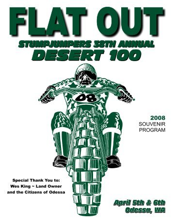 2008 Program Pages 1-10 - Stumpjumpers Motorcycle Club