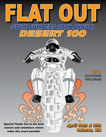 2010 Desert 100 Program - Stumpjumpers Motorcycle Club