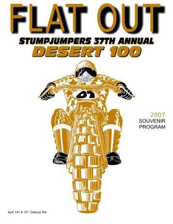 2007 Desert 100 Program [PDF 21MB] - Stumpjumpers Motorcycle ...
