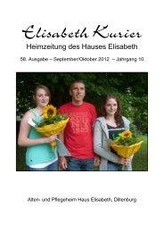 Elisabeth Kurier - Ausgabe September/Oktober 2012