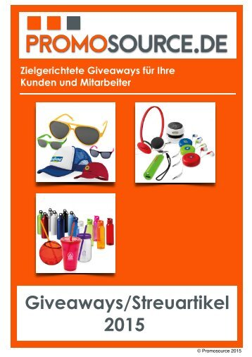 Giveaways/Streuartikel 2015
