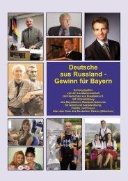 Deutsche aus Russland - Gewinn für Bayern - Landsmannschaft der ...