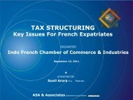 Tax Structuring – Key Issues for French Expatriates