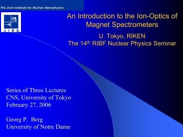 An Introduction to the Ion-Optics of Magnet Spectrometers