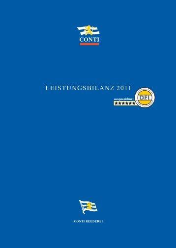 LEISTUNGSBILANZ 2011 - CONTI Unternehmensgruppe