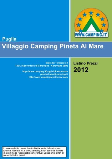Villaggio Camping Pineta Al Mare Puglia - Camping.it