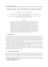 Numerical Study of Five-dimensional Gravitational Collapses 1 ...