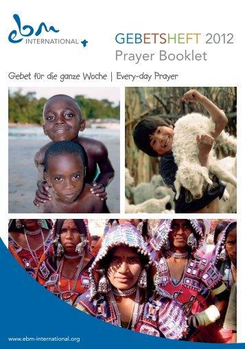 können Sie das Gebetsheft 2012 herunterladen - EBM Masa