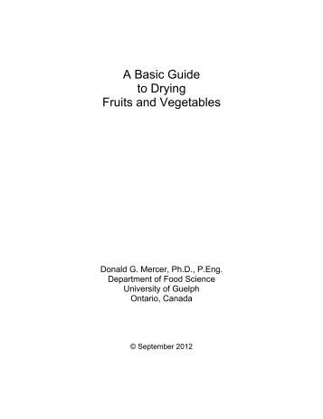 A Basic Guide to Drying Fruits and Vegetables - International Union ...