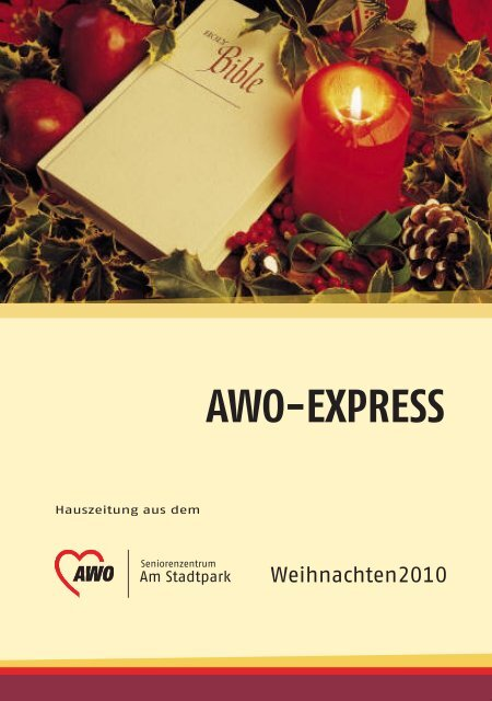 """Adventsverkauf – Erlös für den """"Garten der Sinne"""" - AWO ..."""