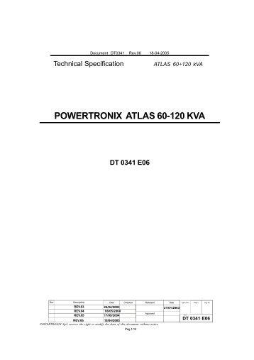POWERTRONIX ATLAS 60-120 KVA - Tool Store