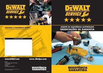 Indicações acerca da garantia - Assistência Técnica - DEWALT