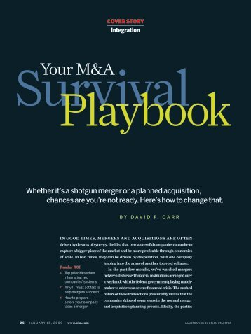 Your M&A Survival Playbook