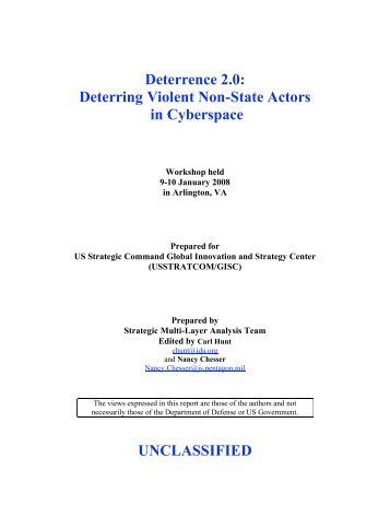 Deterrence 2.0: Deterring Violent Non-State Actors in Cyberspace ...