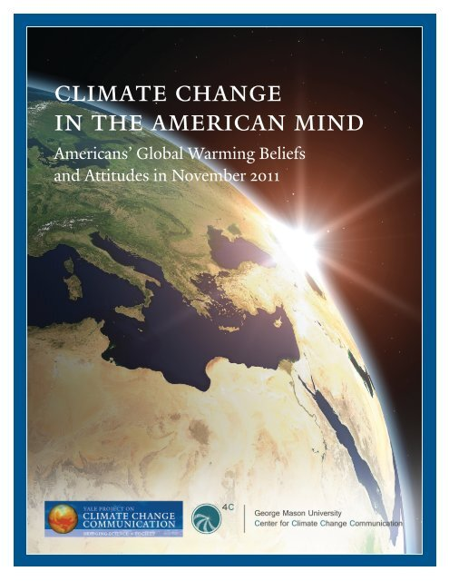 Americans' Global Warming Beliefs and Attitudes in November 2011