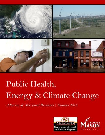 Public Health, Energy & Climate Change | A Survey of Maryland ...