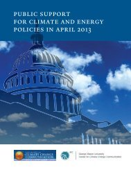 public support for climate and energy policies in april 2013
