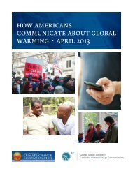 how americans communicate about global warming • april 2013