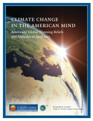 Americans' Global Warming Beliefs and Attitudes in April 2013