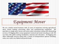 Equipment Mover