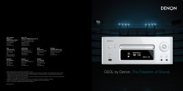 CEOL by Denon. The Freedom of Sound. - LRG Sound and Vision