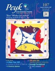 No. 107/January & February 2007 - Persian Cultural Center