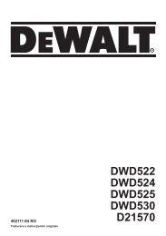 DWD522 DWD524 DWD525 DWD530 D21570 - Dewalt