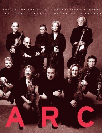 artistsoftheroyalcons ervatorypresenttheyou ... - ARC Ensemble